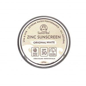 Cremă protecție solară rezistentă cu oxid de zinc SPF 30 Alb clasic SUNTRIBE