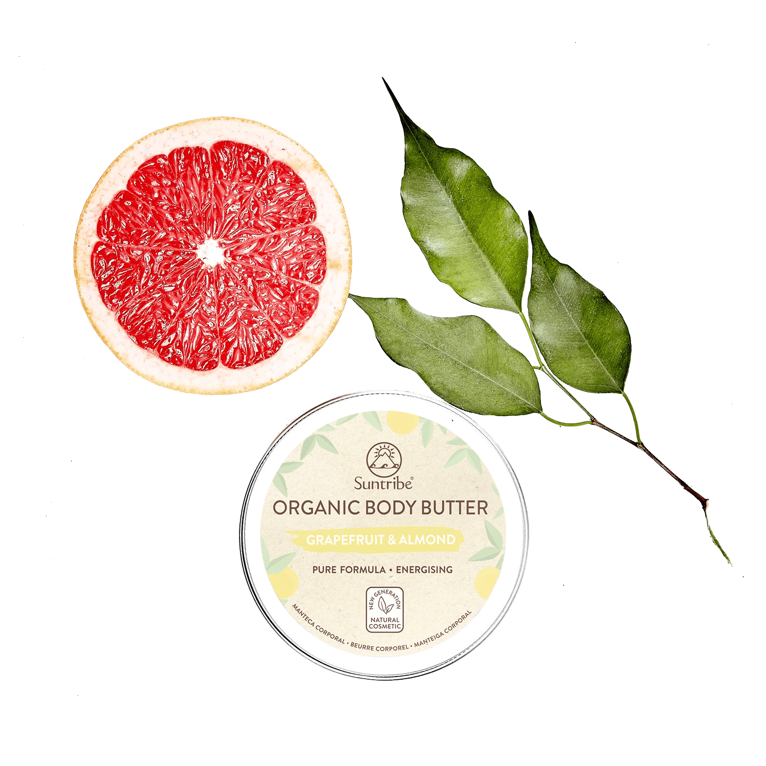 Solio unt corp organic grapefruit & migdale body Butter natural Suntribe