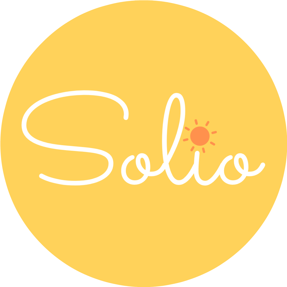 logo solio square white orange